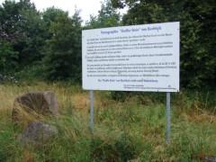 Schild, Beschreibung am Fundort