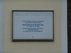 Gedenktafel Reinhold Burger