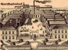 Fabrik der Berliner Wagenachsenfabrik in Berlin Pankow