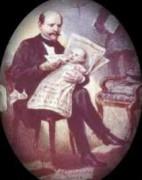 Baron Killisch von Horn mit seinem Kind