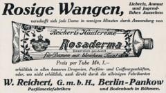 Reklame W.Reichert's Pankow Rosaderma Hautcréme