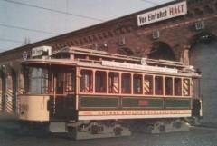 Maximum-Triebwagen von 1907 auf dem Betriebshof Niederschönhausen