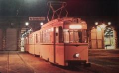 Reko-Triebwagen 217055 mit Beiwagen 267006 und 267428 auf dem Betriebshof Niederschönhausen