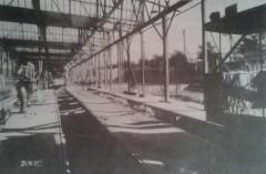 Wiederaufbau der Wagenhalle in Niederschönhausen in den 1950er Jahren