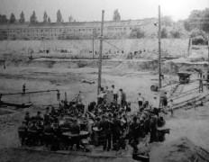 Aufbau Freibad Pankow